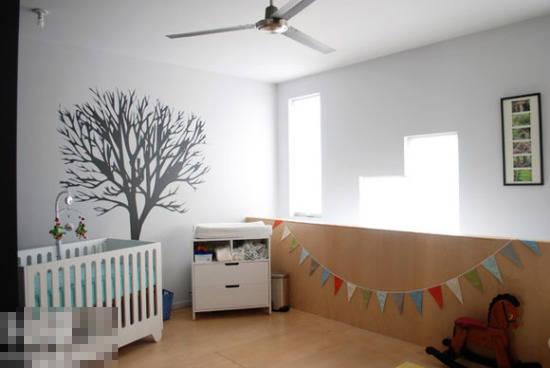 小树独立成景 10款黑白树影壁纸装饰墙面(图)