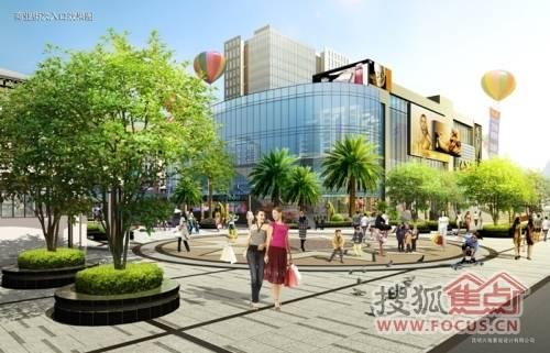 商业街次入口效果-金色时代广场今日开放 首创CBD 城市源动力