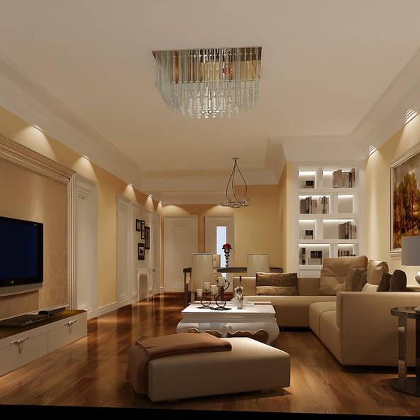 永定河孔雀城英国宫110平米三居客厅装修设计图片