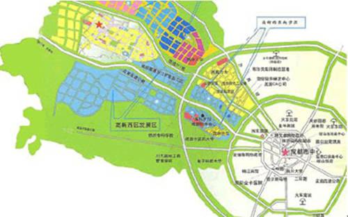 中心城去空间布局结构规划图