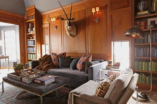 搜狐推荐:简约单身公寓完美变身成美式豪宅图片