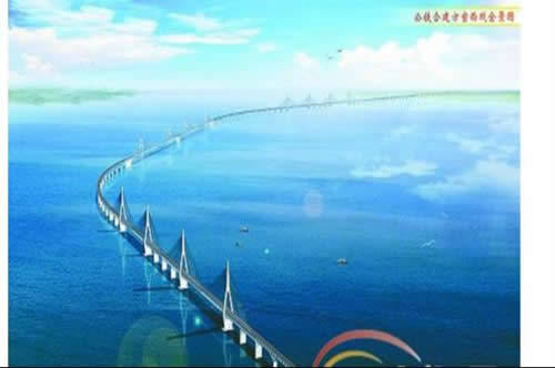 琼州海峡跨海大桥效果图