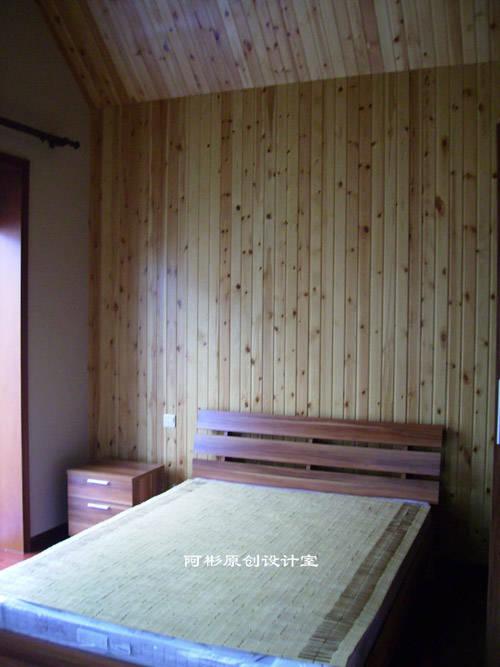 装修说明:本案实用了松木板做吊顶和背景