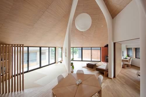 建筑工作室设计的五边形房子,所有图片由哉森田建筑工作室提供摄影师