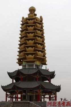 石家庄鹿泉灵山元宝塔入选中国10大丑陋建筑(图)