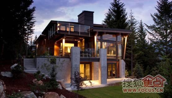 依山傍水的林中豪宅 室内设计令人赞叹