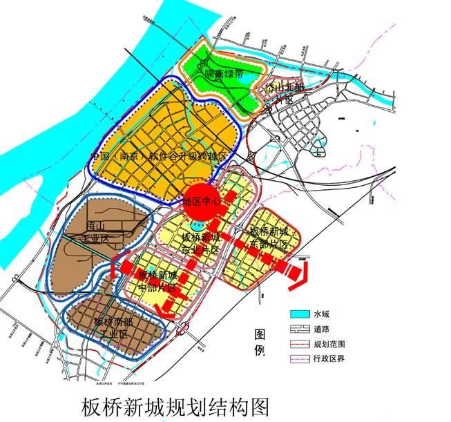 板桥新城规划图