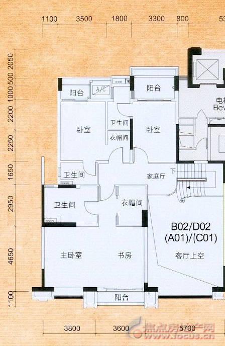 街道建房地基设计图,一梯两户,长15米,宽15.