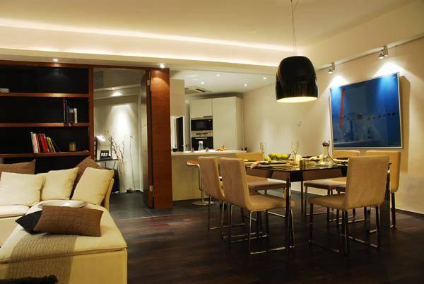 现代简约风格三房一厅115平米装修效果图