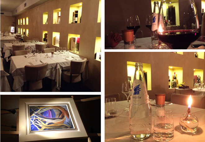 晚饭时间的意大利餐厅