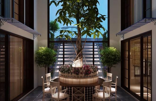 北京院子1064平米六居及以上客厅装修设计图片