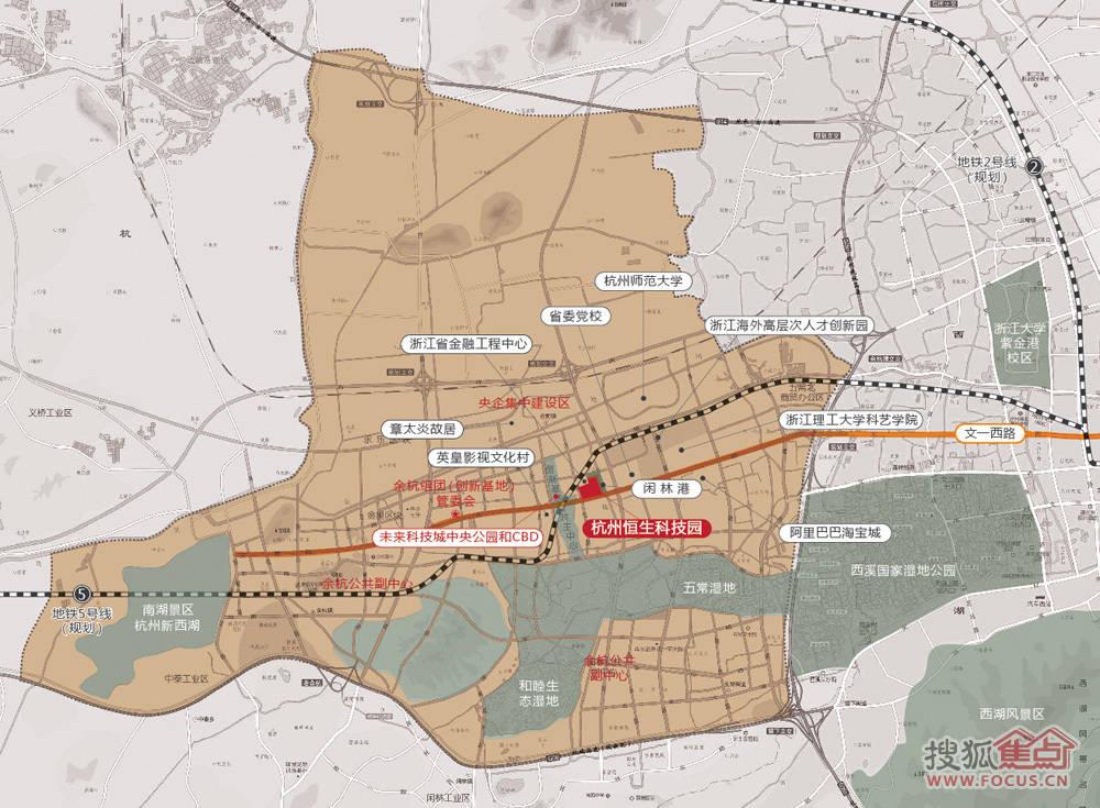 恒生科技园位于杭州市文一西路新省委党校西侧西溪科技岛内,紧邻西溪湿地。该项目总投资15亿元人民币,总建筑面积24万平方米,其中一期将建设1.6万平米孵化器,11幢独栋花园研发楼和6000平米综合配套。恒生科技园于2009年12月18日正式开工,一期工程将于2011年竣工。 恒生(杭州)科技园,由中国领先的全牌照金融IT服务提供商恒生电子(股票代码:600570)和鼎晖投资(中国的私募股权投资机构)联合打造。园区位于中国杭州文一西路1218号,西溪国家湿地公园内,毗邻阿里巴巴淘宝城、浙江金融工程中心、
