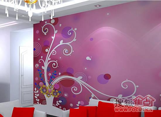 搜狐家居:沙发背景墙效果图欧式沙发挂画欣赏