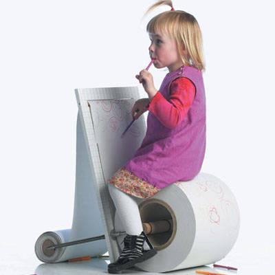 椅子将儿童绘画完全融入家具设计之中