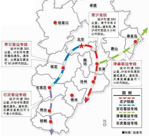 河北省高铁路线图
