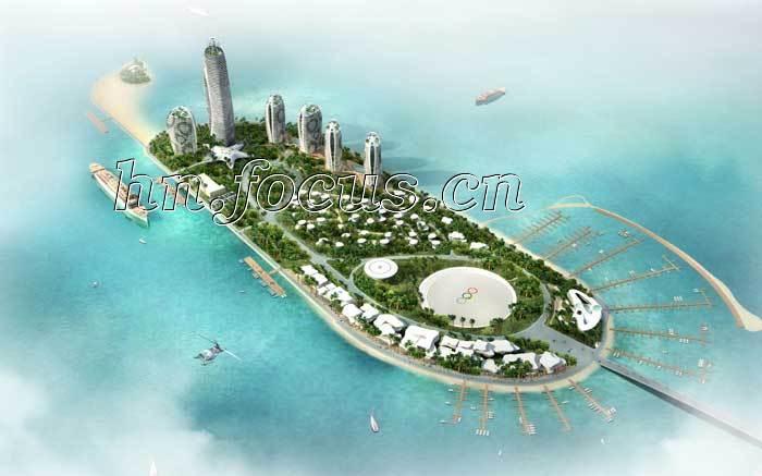 三亚凤凰岛超星级国际养生度假中心成功结顶_房产新闻