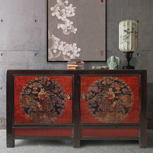新中式餐边柜 混搭经典元素与时尚脉络图片