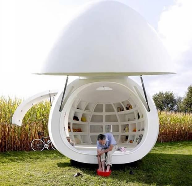 20平米的可移动蛋形可爱小屋