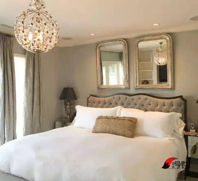 你还在床头挂婚纱照么?创意卧室背景墙设计
