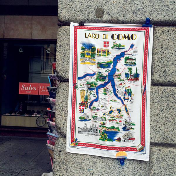 科莫湖街头手绘地图