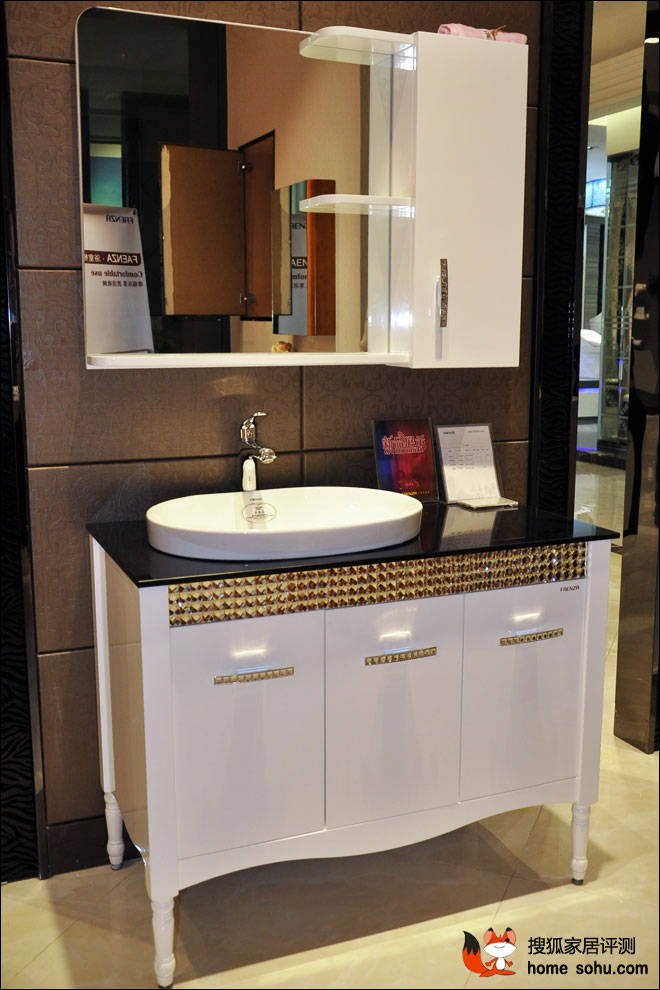 实木材质超大收纳 法恩莎浴室柜fpgm4697评测