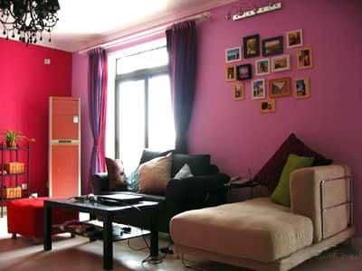田园花纹墙纸,粉红印花灯罩