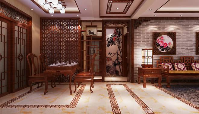 新中式轻奢舒适范儿 沉稳色彩气韵宅邸(图)图片