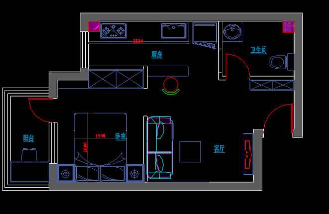 保利芳园41平米一居客厅装修设计图片