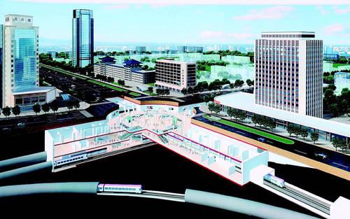 太原地铁二号线中心街首开段进展