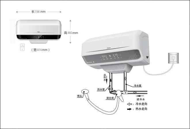 海尔电热水器内部接线图