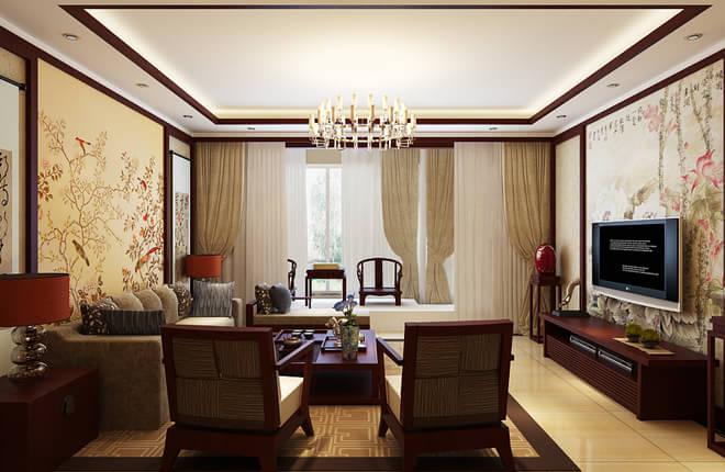 正源尚峰尚水loft65平米二居客厅装修设计图片