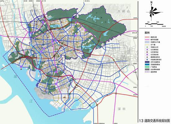 将虎门镇空间上划分为七大功能片区,依次为:威远岛片区,新湾片区,白沙