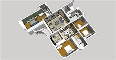 3d全景感知未来 家装修效果图从平面变成立体