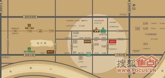 杭州下沙小区结构图