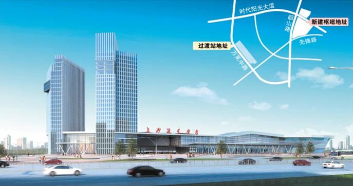 长沙汽车南站综合枢纽效果图