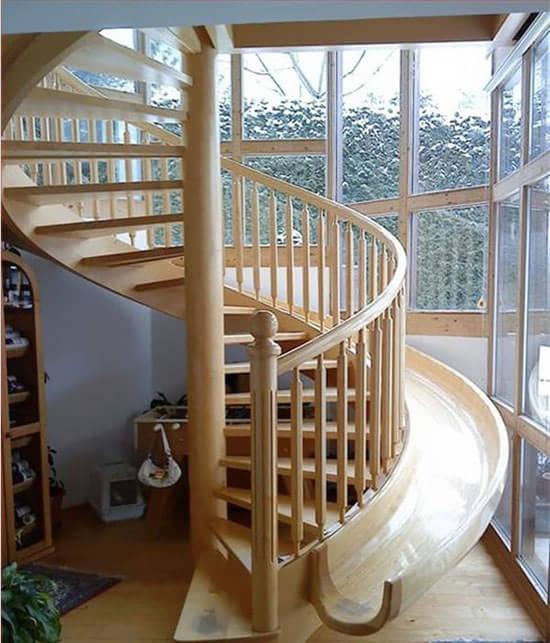 90度旋转楼梯设计图片