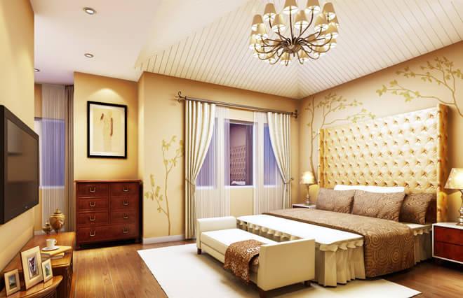 大量使用原木色的家具和装饰
