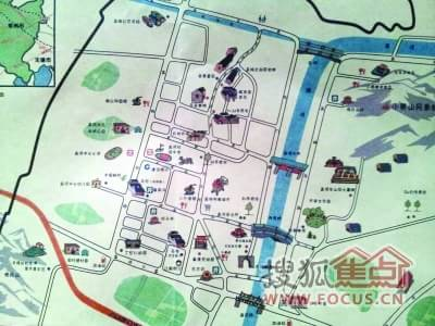 常州孟河镇手绘地图
