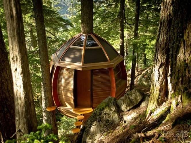 与自然零距离的原木树屋