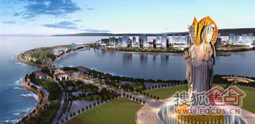 世威·明珠岛是以迪拜棕榈岛为参照,投资上百亿在南海之滨兴建