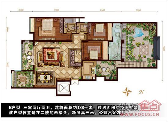 南北宽8米×东西长18米两层楼平面设计图