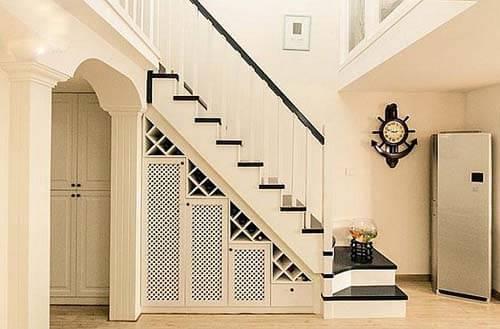 楼梯装修-最不占空间的楼梯图片-小户型阁楼楼梯效果图-阁楼活动楼梯