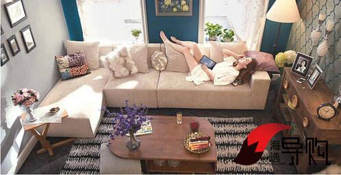 推荐产品一:木头公园欧式布艺实木沙发