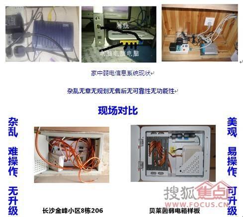 普通弱电箱使用效果vs贝莱茵家庭弱电箱使用效果