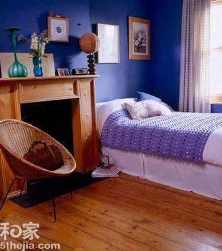 优雅蓝色调 蓝色卧室背景墙心动推荐(组图)