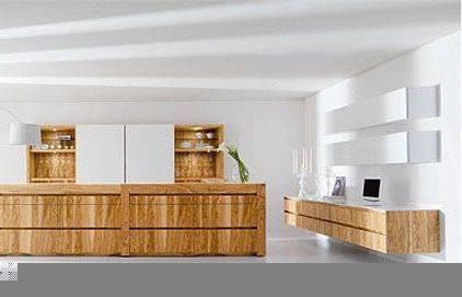 5款清水木作整体橱柜 现代简约厨房(组图)