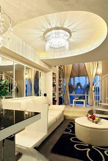 感受高大上装修风格 客厅吊顶如何展现华美风情_家居