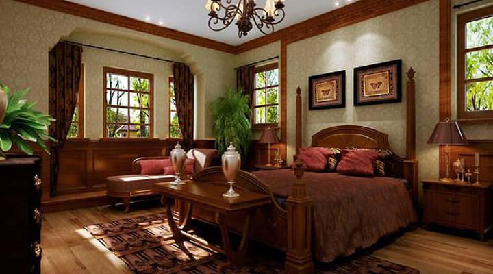 灯饰与家具完美搭配 12万打造150平欧式复古家