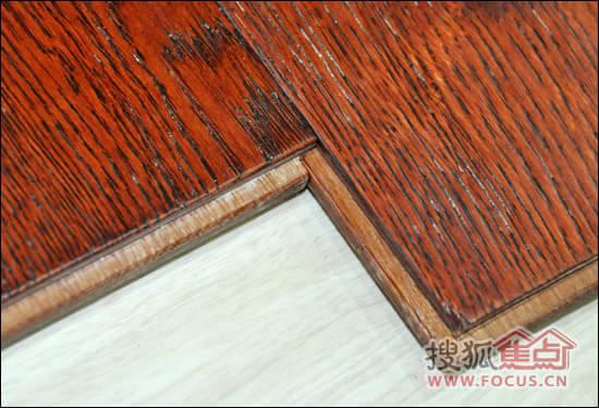 安信橡木浮雕实木地板拼接效果