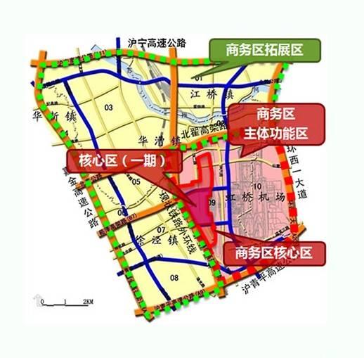 虹桥商务区规划图